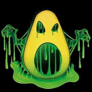 sticky avocado illustrazione