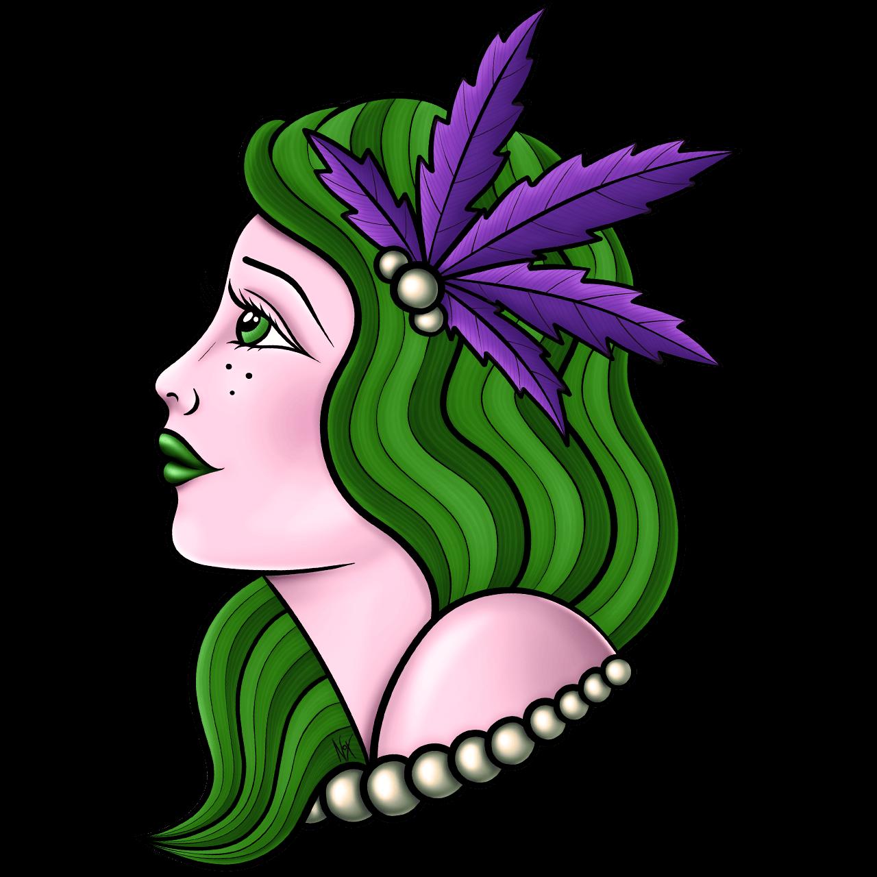 la verde illustrazione