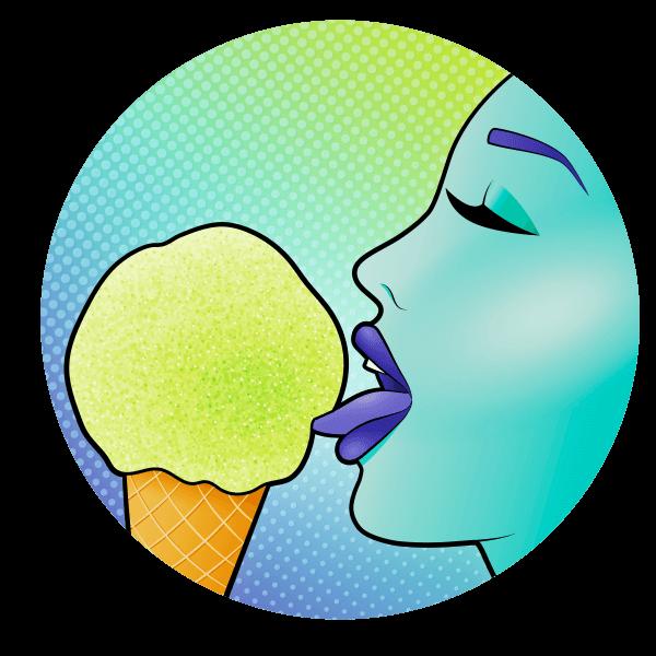 idro gelato illustrazione